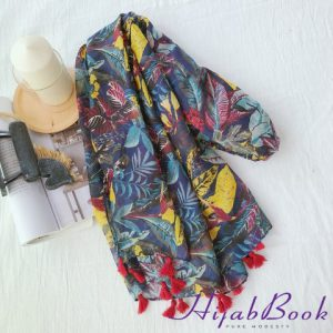 Hijab-Leaf-Printed-Cotton-Colorful