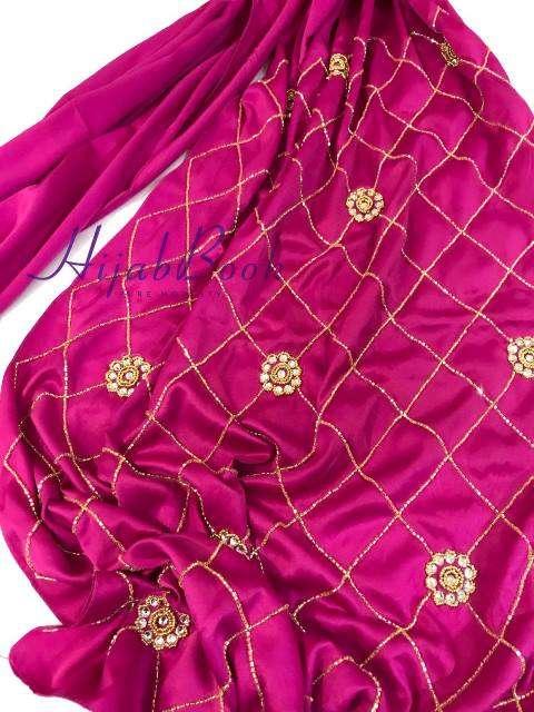 Hijab-Party-Karchupi-Stone work-Exclusive