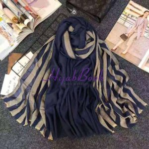Hijab-Cotton-Stripe-Printed-Double Color
