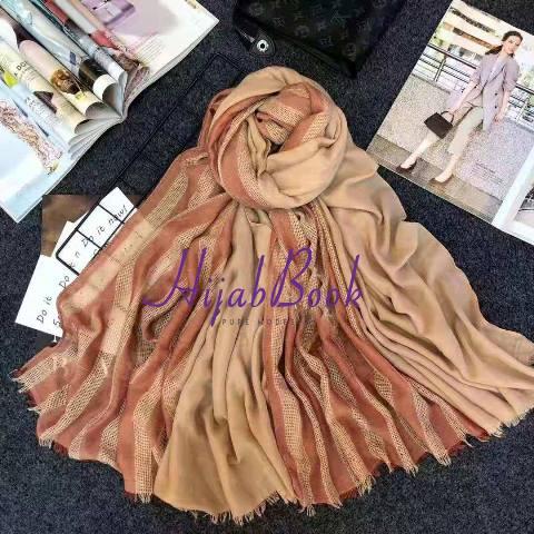 Hijab-Cotton-Stripe-Printed-Double Color