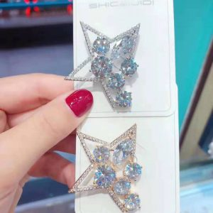 Exclusive-Brooch-Real Stone-Star Shape